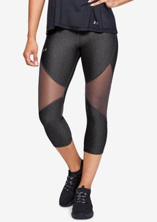 Under Armour HeatGear Mesh-Trimmed Capri Leggings