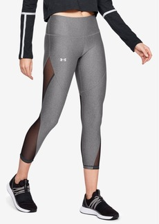 Under Armour HeatGear Mesh-Trimmed Leggings