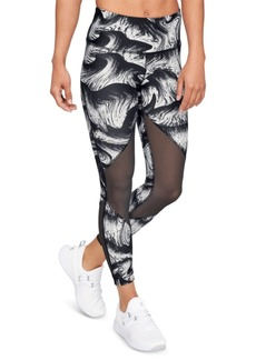 Under Armour HeatGear Printed Mesh Compression Leggings