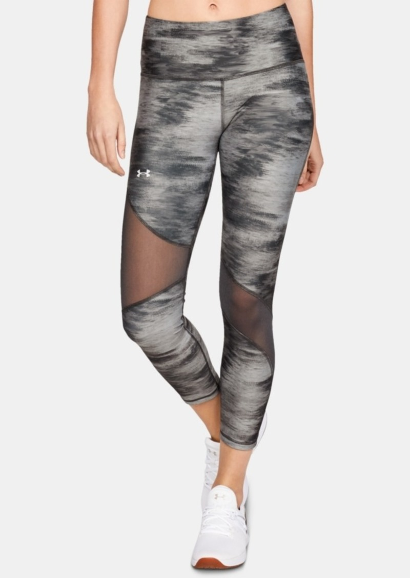 Under Armour HeatGear Printed Mesh-Inset Leggings