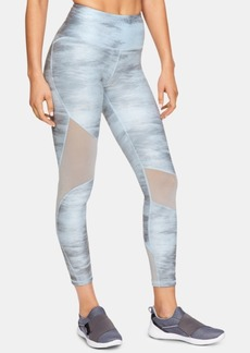 Under Armour HeatGear Printed Mesh-Inset Leggings