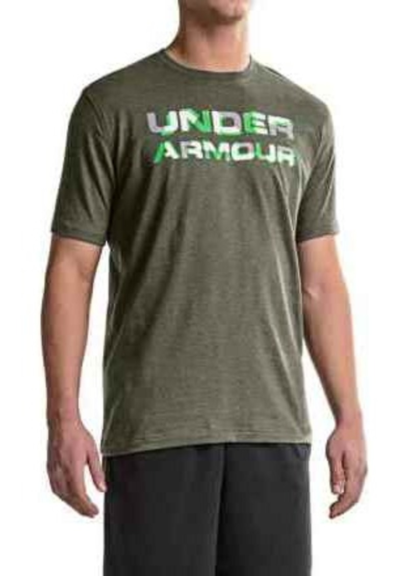 Under armour under armour heatgear stacked wordmark t for Under armour tee shirts sale