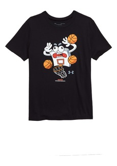 Under Armour HeatGear® Warning Incoming Buckets Graphic T-Shirt (Big Boys)