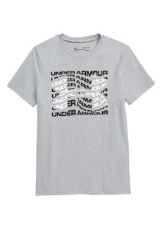Under Armour HeatGear® Warped Logo Graphic Tee (Big Boy)