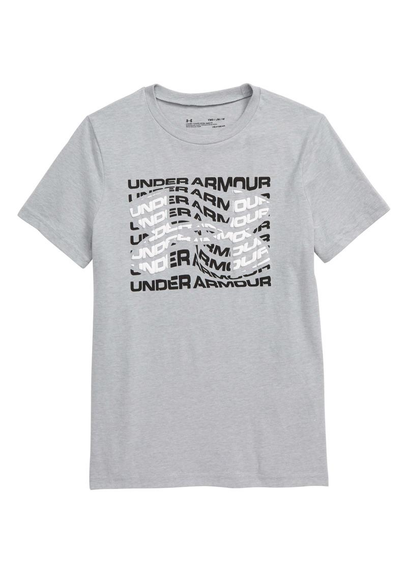 Under Armour HeatGear® Warped Logo Graphic Tee (Big Boy)