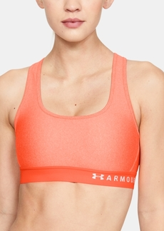 Under Armour Heathered Cross-Back Medium-Support Compression Sports Bra