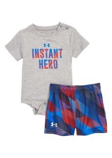 Under Armour Instant Hero Bodysuit & Shorts Set (Baby Boys)