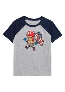 Under Armour Kids' Americana Peanut Raglan Graphic Tee (Toddler)