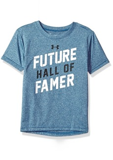Under Armour Boys' Little Future Hall of Famer Short Sleeve T-Shirt Moroccan Blue