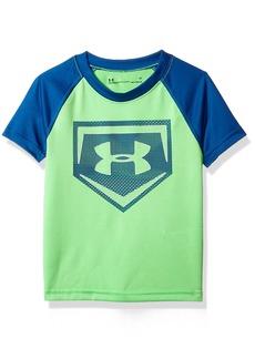 Under Armour Boys' Little Metallic Sync Homeplate Short Sleeve T-Shirt