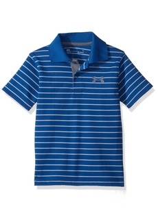 Under Armour Little Boys' Playoff Stripe Polo Moroccan Blue