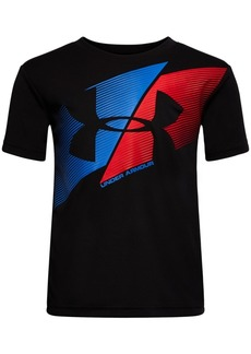 Under Armour Little Boys Slashed Logo-Print T-Shirt