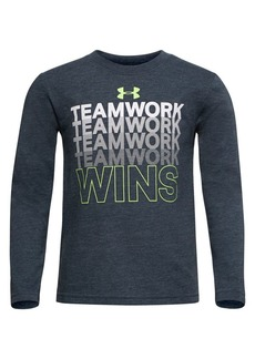 Under Armour Little Boy's Teamwork Wins Cotton Blend Tee