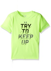 Under Armour Boys' Little Try to Keep Up Short Sleeve Tee