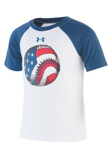 Under Armour Little Boy's UA Flag Baseball Raglan Tee