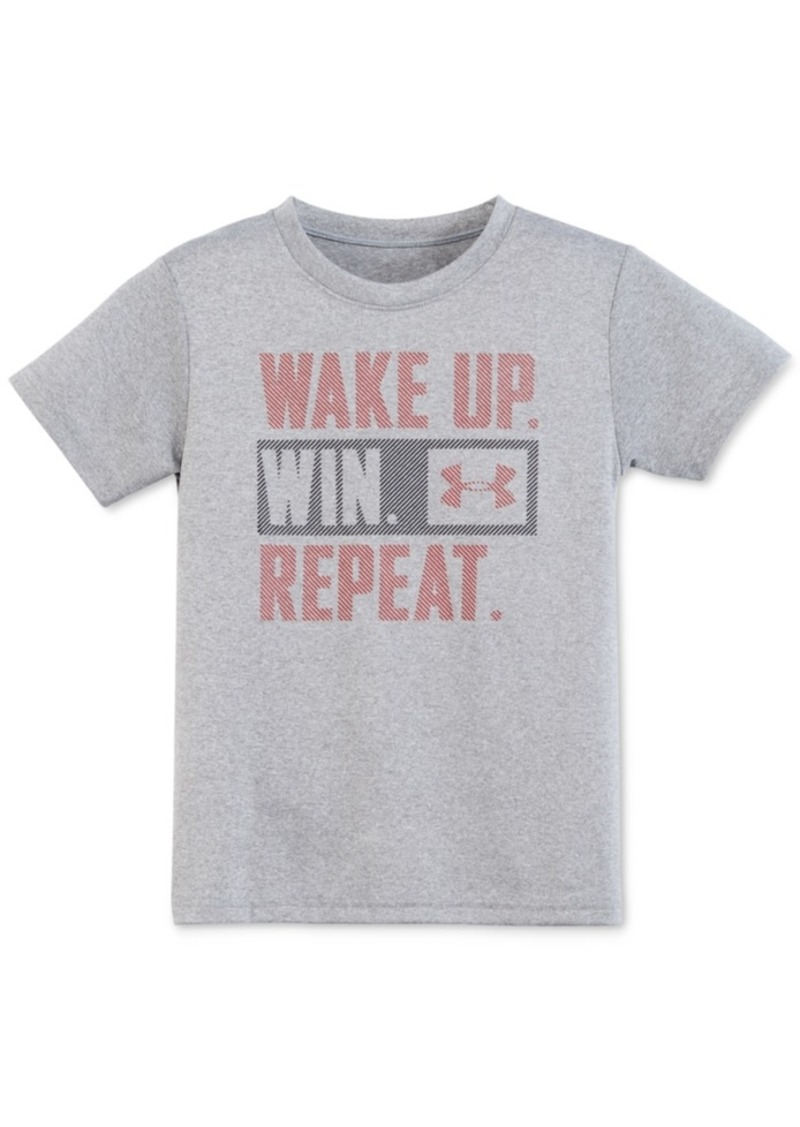 Under Armour Little Boys' Wake Up. Win. Repeat T-Shirt, Toddler boys (2T-4T) or Little Boys (2-7)