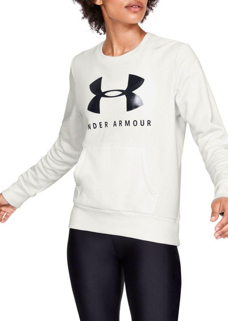 Under Armour Logo Cotton-Blend Sweatshirt