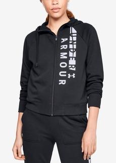 Under Armour Logo Fleece Zip Hoodie