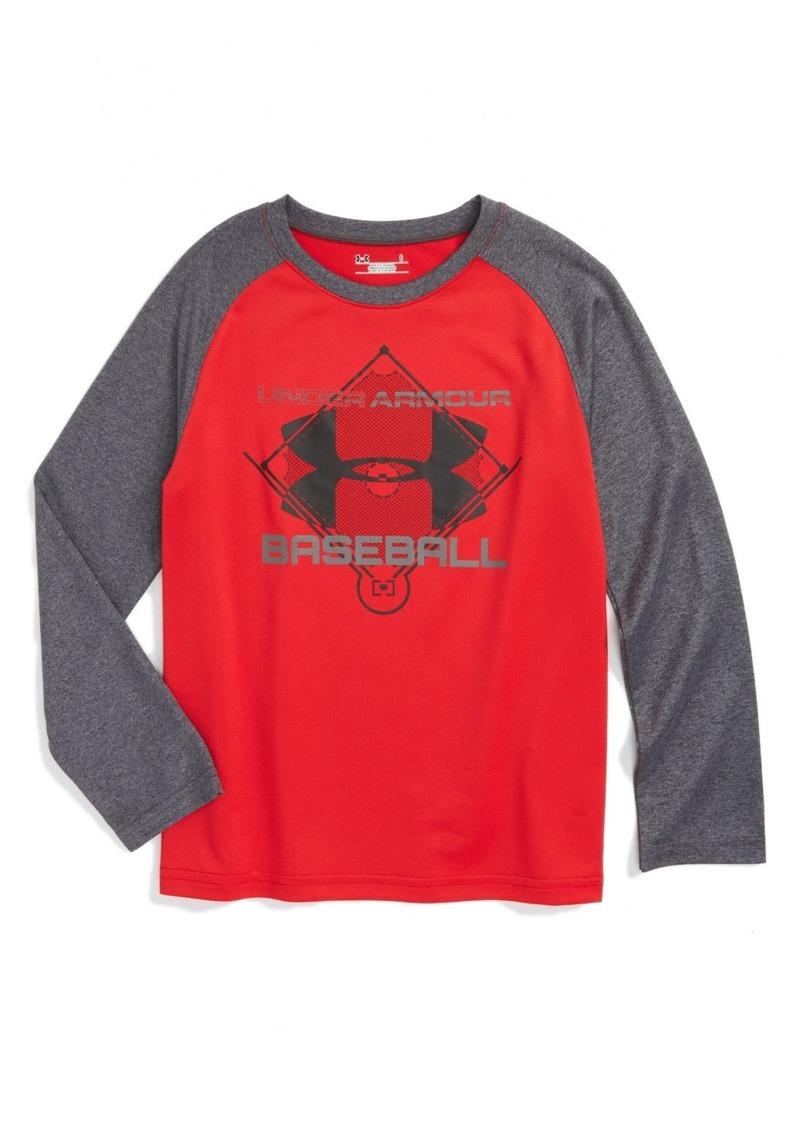 Under Armour Logo Graphic Baseball T-Shirt (Toddler Boys & Little Boys)