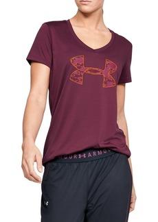 Under Armour Logo-Print V-Neck T-Shirt