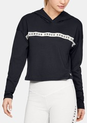 Under Armour Logo Taped Cropped Hoodie