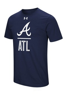 Under Armour Men's Atlanta Braves Performance Slash T-Shirt