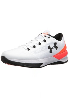 Under Armour Men's Charged Controller Basketball Shoe White (0)/Phoenix Fire