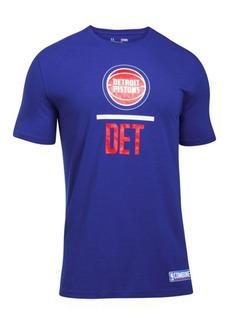 Under Armour Men's Detroit Pistons Lockup T-Shirt