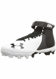 Under Armour Men's Harper 4 Mid RM Baseball Shoe White (0)/Black