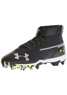 Under Armour Men's Harper Mid RM Baseball Shoe Black (001)/White