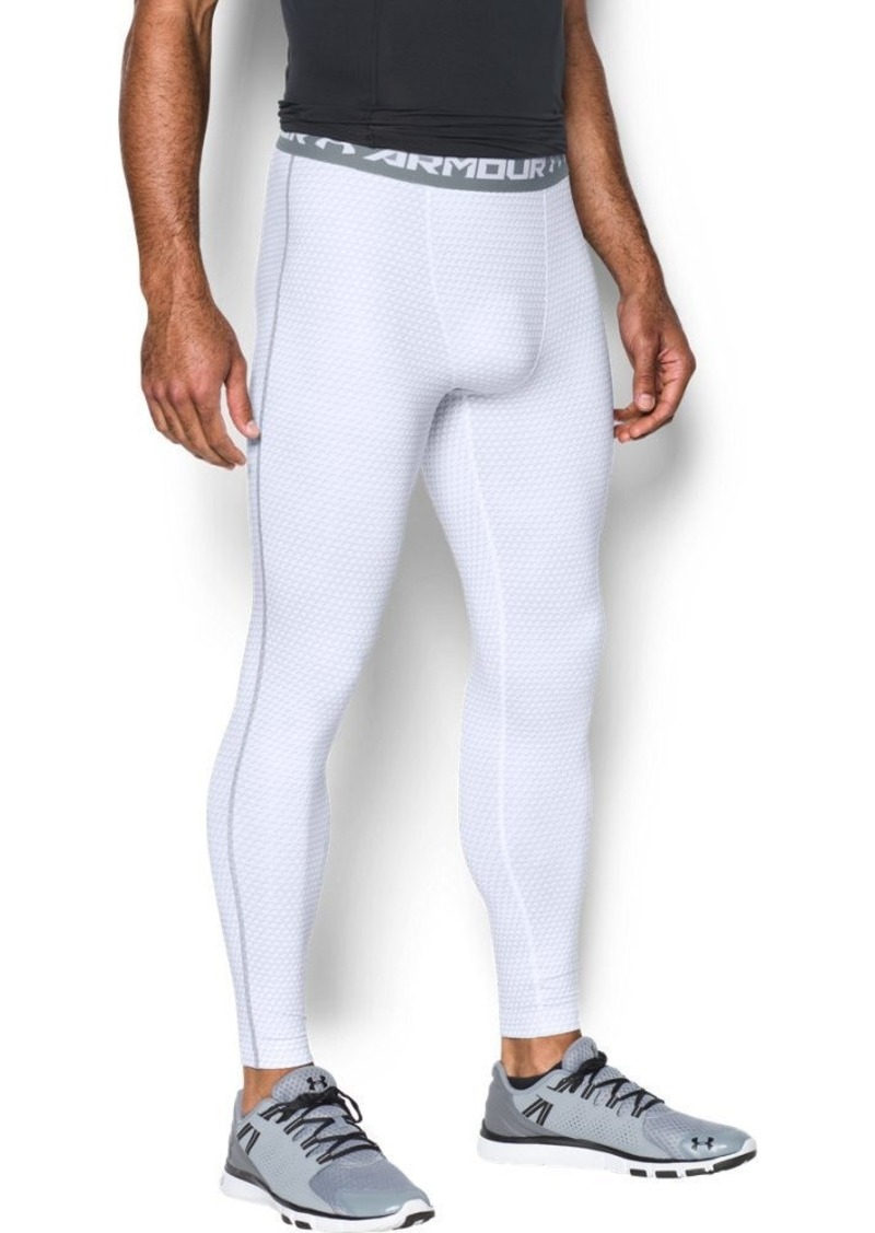Under Armour Men's HeatGear Armour Printed Compression Leggings White/Steel