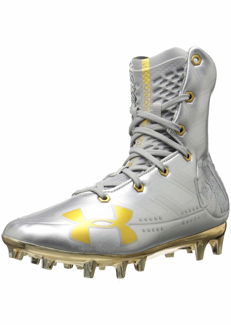Under Armour Men's Highlight MC-Limited Edition Football Shoe Silver (100)/Metallic Gold