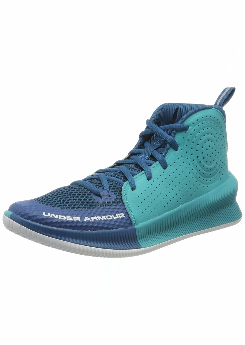 Under Armour Men's Jet 2019 Basketball Shoe Running Vibe (401)/Teal Rush