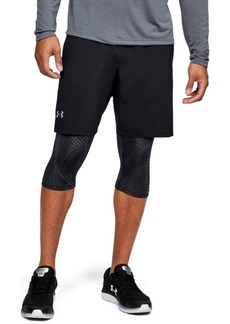 "Under Armour Men's Launch Sw 2-in-1 Printed 9"" Shorts"