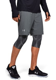 Under Armour Men's Launch Sw Long 2-in-1 Printed Shorts