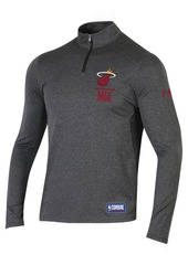 Under Armour Men's Miami Heat Combine Authentic Season Quarter-Zip Pullover