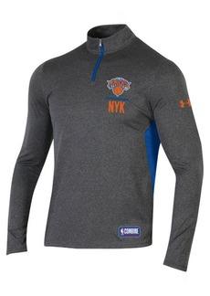 Under Armour Men's New York Knicks Combine Authentic Season Quarter-Zip Pullover