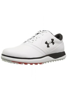 Under Armour Men's Performance Spikeless Leather Golf Shoe White (100)/Black
