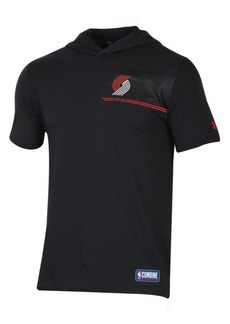 Under Armour Men's Portland Trail Blazers Baseline Short Sleeve Hooded T-Shirt
