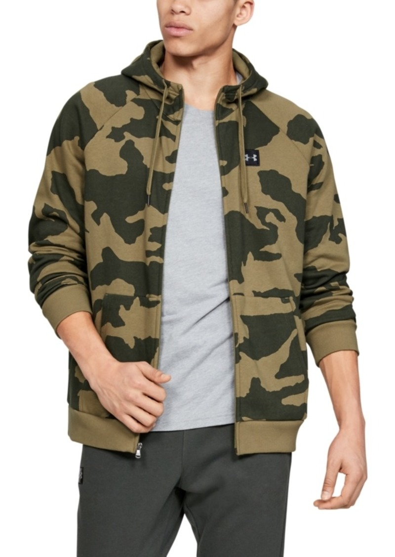Under Armour Men's Rival Fleece Camo Zip Hoodie