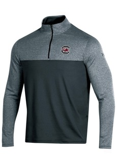 Under Armour Men's South Carolina Gamecocks Scratch Mock Quarter-Zip Pullover