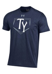 Under Armour Men's Tampa Yankees At Home Logo Charged Cotton T-Shirt