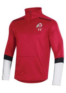 Under Armour Men's Utah Utes Team Issue Quarter-Zip Pullover