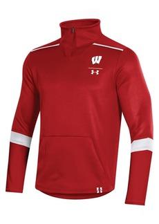Under Armour Men's Wisconsin Badgers Team Issue Quarter-Zip Pullover