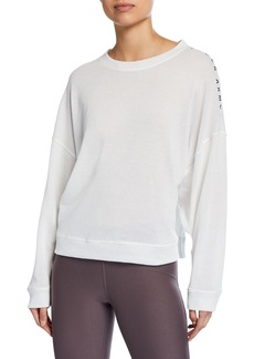 Under Armour Mesh Around Crewneck Drop-Shoulder Top
