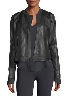 Under Armour x Misty Copeland Zip-Front Leather Jacket