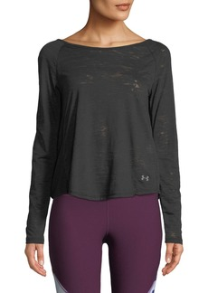 Under Armour Open-Back Long-Sleeve Burnout Top