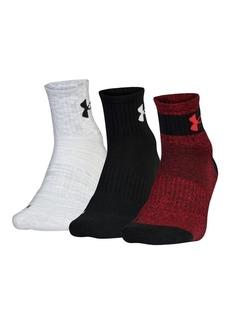 Under Armour Phenom Quarter Three-Pack Socks