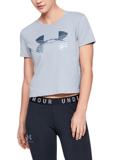 Under Armour Printed-Logo Cropped T-Shirt