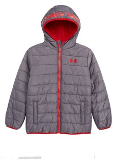 Under Armour Pronto Water Repellent Hooded Puffer Jacket (Big Boys)